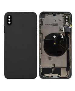 For iPhone XS Max Back Housing with Small Parts Replacement - Black
