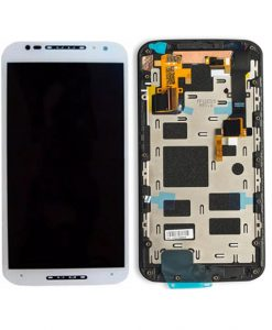 For Moto X2 XT1092 Screen Assembly with Frame Replacment - White