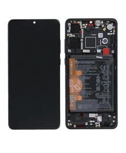 OEM Screen Replacement with Frame for Huawei P30 - Black