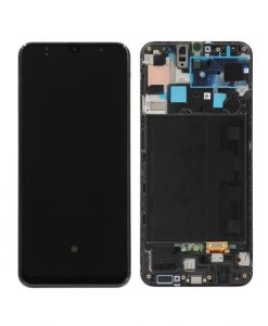 OEM Screen Replacement with Frame For Samsung Galaxy A50S (A507) - Black