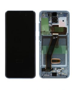 OEM Screen Replacement with Frame For Samsung Galaxy S20 - Blue
