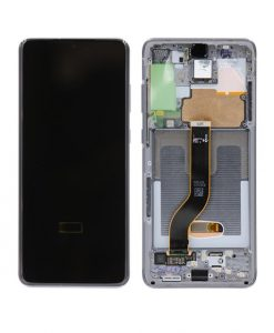 OEM Screen Replacement with Frame For Samsung Galaxy S20 Plus - Gray
