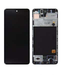 OEM Screen with Frame Replacement For Samsung Galaxy A51 (A515F) - Black