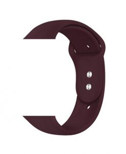 Soft Silicone Sports Band for Apple Watch - Dark Red