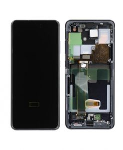 OEM Screen Replacement with Frame For Samsung Galaxy S20 Ultra - Cosmic Black