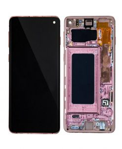 OEM Screen Replacement with Frame For Samsung Galaxy S10 - Pink
