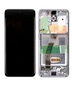OEM Screen Replacement with Frame For Samsung Galaxy S20 - Gray