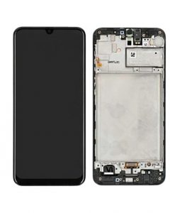 OEM Screen Replacement with Frame For Samsung Galaxy M21 - Black