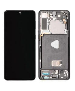 OEM Screen Replacement with Frame For Samsung Galaxy S21 Plus - Black