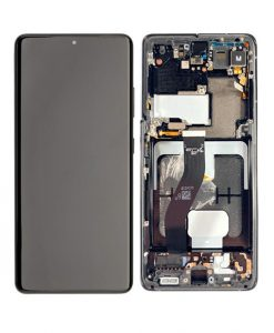 OEM Screen Replacement with Frame For Samsung Galaxy S21 Ultra - Black